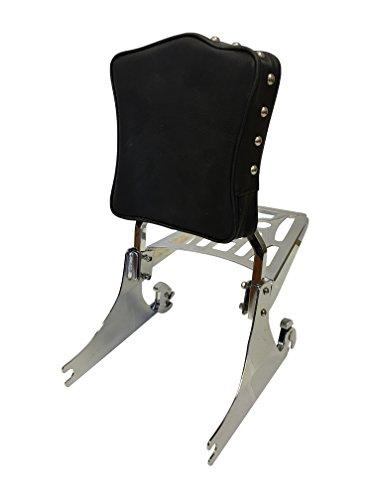 Studded - Sissy Bar Backrest Luggage Rack for Harley Davidson Softail FXSTFLST Models 200mm Wide Rear Tire