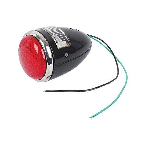 MACs Auto Parts 32-17474 LED Tail Light Assembly - Ford Passenger - Black Body - 17 Red LEDs - 6 White LED License Lens - Left
