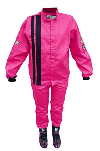 Racerdirect Pink Kids Girls FIRE Suit SFI 32A1 Race Suit SFI 3-2A1 Two Piece Jacket Pants Size Kids 10-12YRS
