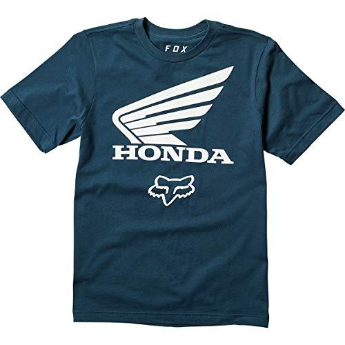 Fox Racing Youth Honda Basic T-Shirt-Navy-YM