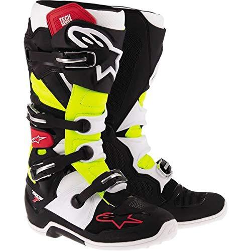 Alpinestars Tech 7 Mens BlackRedYellow Motocross Boots - 11