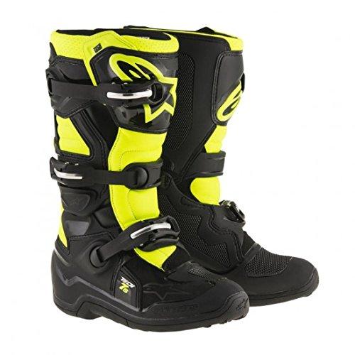 Alpinestars Tech 7S Youth Motocross Boots - BlackYellow - Youth 7