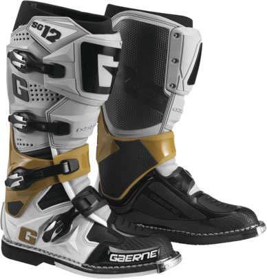 Gaerne Mens SG-12 Motocross Boots GreyMagnesiumWhite Mens Size 95
