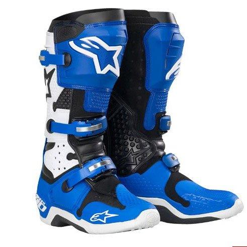 Alpinestars Tech 10 Boots BlueWhite Size 8 201007728