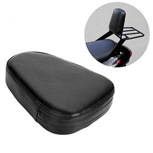 Osan Universal Motorcycle Synthetic Leather Rear Sissy Bar Backrest Cushion Pad - Black