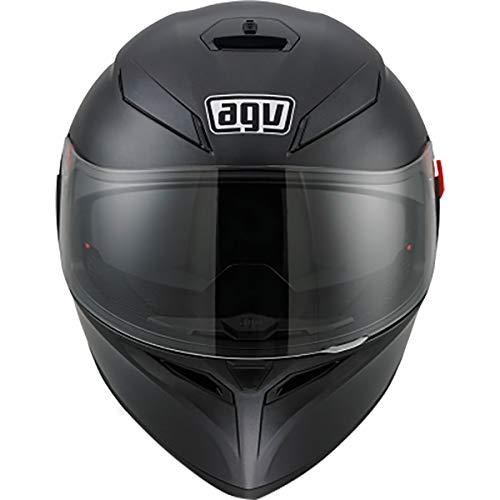 AGV K3 SV Solid Adult Street Motorcycle Helmet - Matte BlackMediumLarge