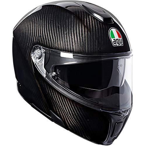 AGV Unisex-Adult Flip-Up Sport Modular Motorcycle Helmet Black X-Large