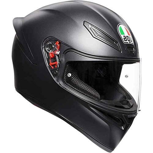 AGV Unisex-Adult Full Face K-1 Motorcycle Helmet Matte Black MediumSmall