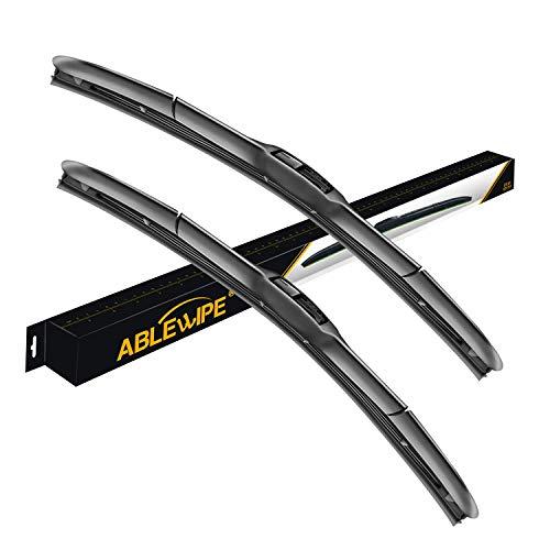 ABLEWIPE Windshield Hybrid Wiper 24  19 Front Window JU Hook Wiper Blades Model 18O13BSet of 2