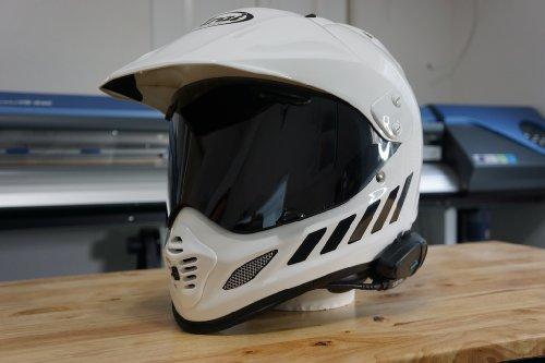 The Pixel Hut gs00045b Helmet Graphics Chevron Reflective for Arai XD4 - Black