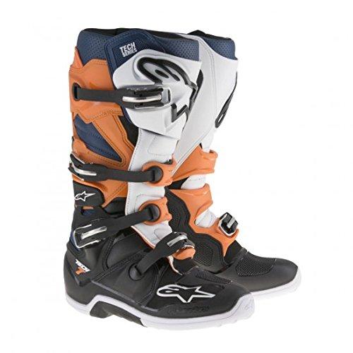 Alpinestars Tech 7 Mens Motocross Boots - OrangeBlue - 9