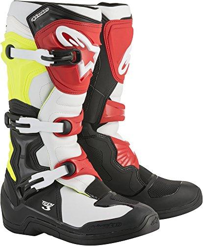 Alpinestars Tech 3 Motocross Off-Road Boots 2018 Version Mens BlackWhiteYellow Size 10