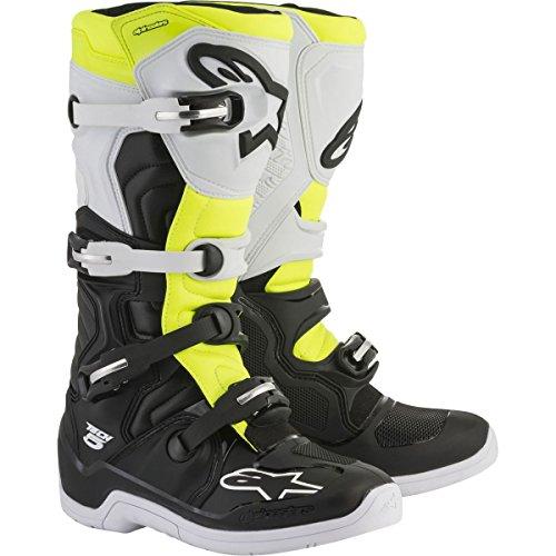 Alpinestars Tech 5 Boots-BlackWhiteYellow Flo-9