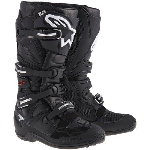 Alpinestars Tech 7 Black MX Boots - Size 8