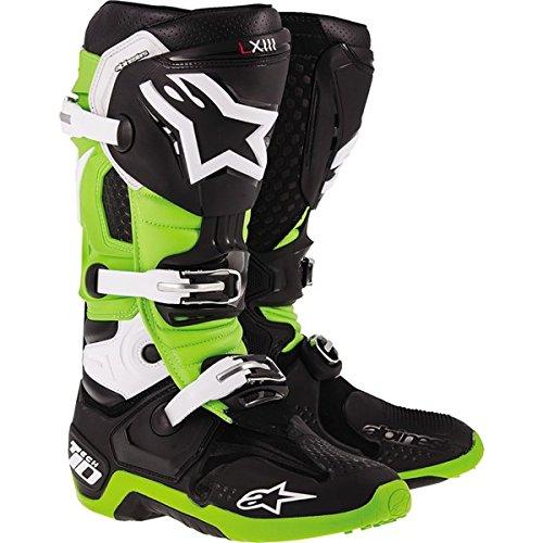 Alpinestars Tech 10 Mens Dirt Bike Motorcycle Boots - BlackGreen  Size 12