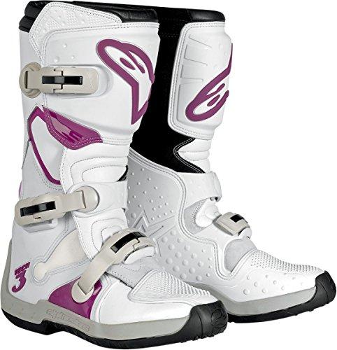 Alpinestars Stella Tech 3 Womens MX Boots WhiteViolet 6 USA