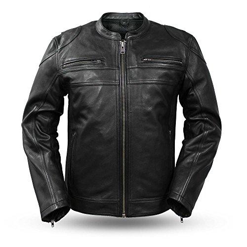 First Manufacturing mens Nemesis Leather JacketBlackMedium1 Pack