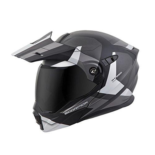 Scorpion EXO-AT950 Modular Neocon Street Bike Motorcycle Helmet - Silver  Large