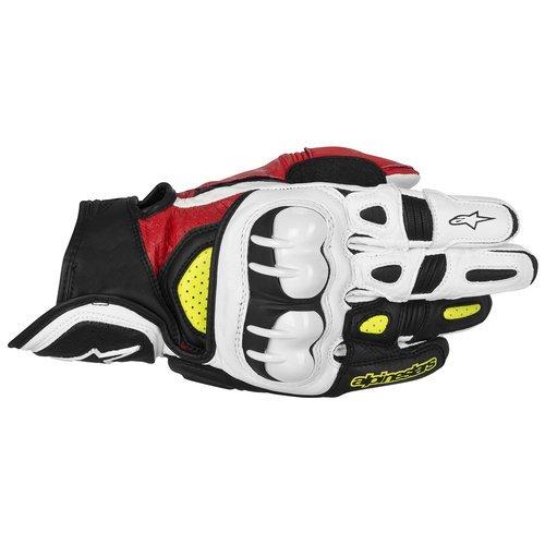 Alpinestars GPX Leather Gloves  Gender MensUnisex Distinct Name BlackRedYellow Primary Color Black Size 2XL Apparel Material Leather 3567013-136-2X