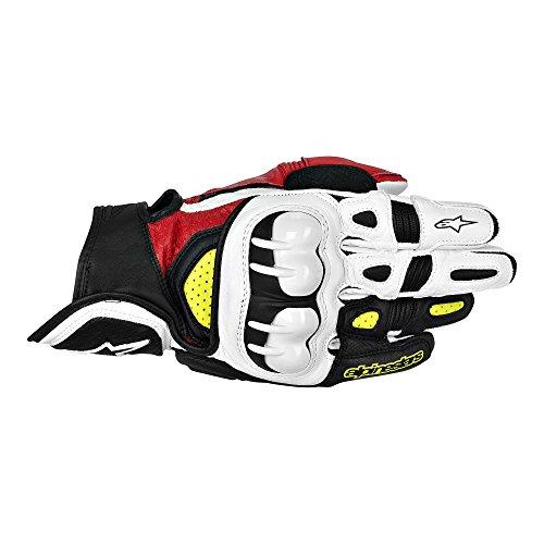 Alpinestars GPX Leather Gloves  Gender MensUnisex Distinct Name BlackRedYellow Primary Color Black Size 3XL Apparel Material Leather 3567013-136-3X