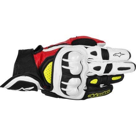 Alpinestars GPX Leather Gloves L WhiteRed