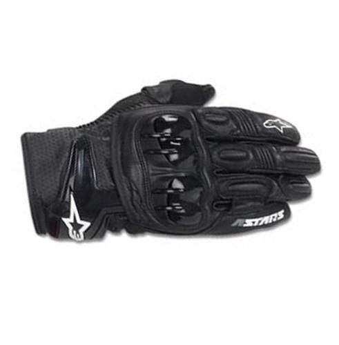 Alpinestars GPX Leather Gloves - LargeBlackYellow Fluorescent