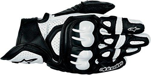 Alpinestars GPX Leather Gloves - SmallBlackWhite
