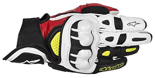 Alpinestars GPX Leather Gloves - SmallBlackYellow Fluorescent