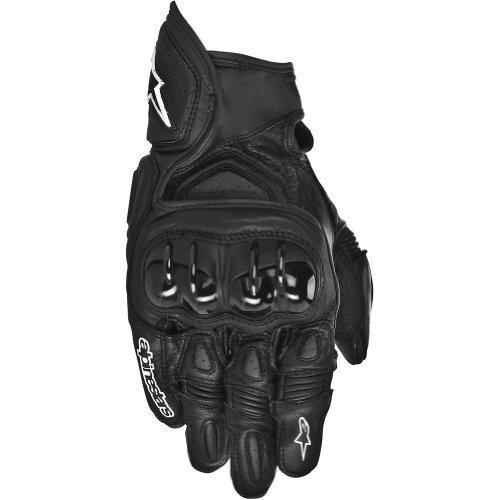 Alpinestars GPX Mens Leather Street Bike Motorcycle Gloves - Black  Large