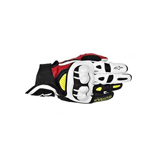 Alpinestars GPX Mens Leather Street Bike Motorcycle Gloves - BlackRedYellow  X-Large