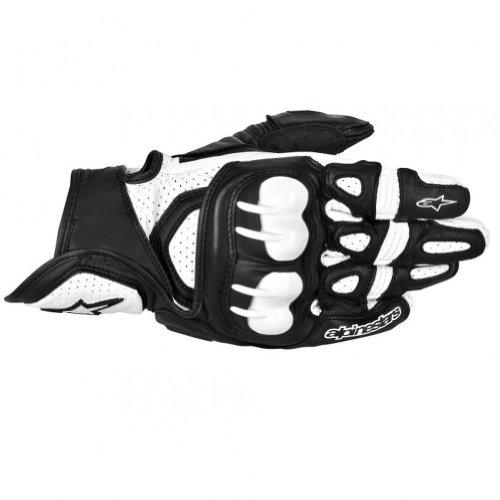 Alpinestars GPX Mens Leather Street Bike Motorcycle Gloves - BlackWhite  3X-Large