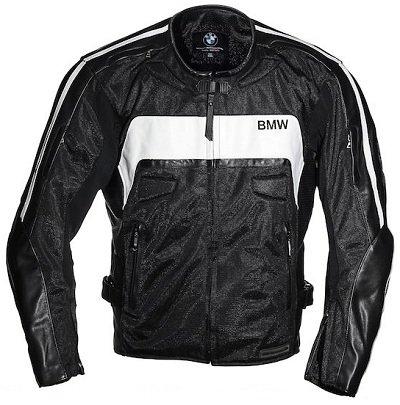 BMW Genuine Leather Mesh Jacket by Kushitani Black - Medium