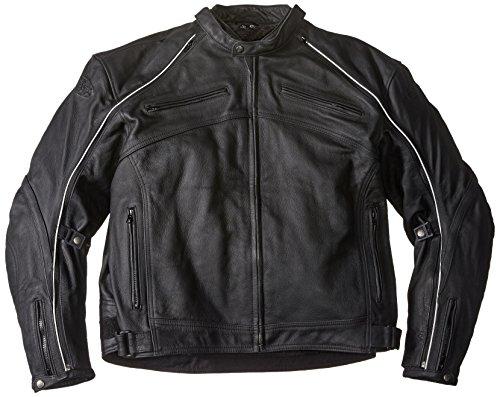 Joe Rocket Superego Mens Hybrid LeatherMesh Motorcycle Jacket Black 4X-Large