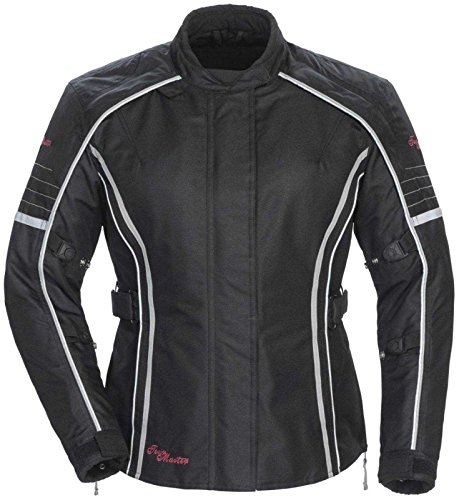 Tour Master Trinity Series 3 Womens Textile Sports Bike Racing Motorcycle Jacket - Black  X-Large
