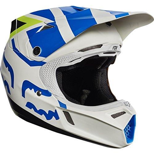 Fox Racing Creo Youth V3 Motocross Motorcycle Helmets - WhiteYellowSmall