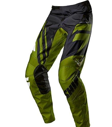 2015 Shift Youth Assault Race Pants-BlackGreen-24