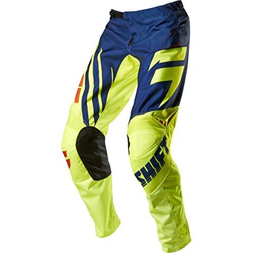 Shift Racing Assault Race Youth Boys MotoX Motorcycle Pants - NavyYellow  Size 22