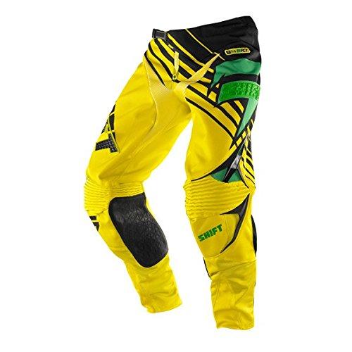 Shift Racing Faction Satellite Mens Off-RoadDirt Bike Motorcycle Pants - GreenYellow  Size 32