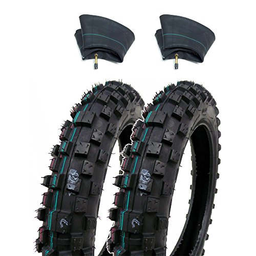 SET OF TWO Mini Dirt Bike Knobby Tire 250-10 Front Rear Tube Type Off Road Motocross Pattern  Matching Inner Tubes TR87