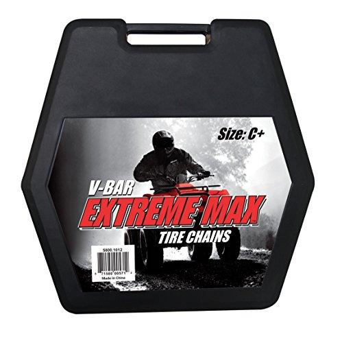 Extreme Max 58001012 ATV V-Bar Tire Chain Set - 61 L x 16 W Size C