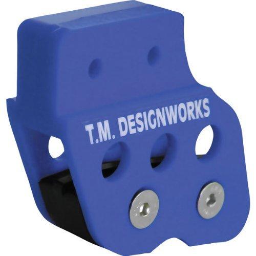TM Designworks ATV Chain Guide With Powerlip Wear Pad Blue