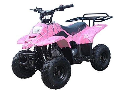 ATA-110B1 TaoTao Kids Gas 110cc Sport ATV - Pink Spider