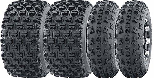 Set of 4 Sport ATV Tires 23x7-10 23x7x10 Front 22x11-10 22x11x10 Rear GNCC