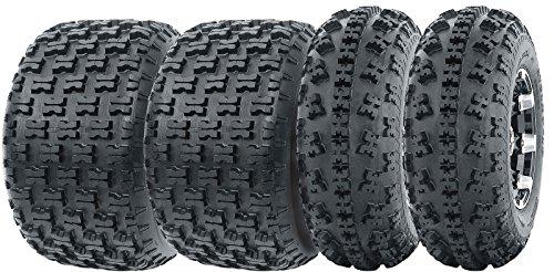 Set of 4 WANDA Sport ATV Tires AT 23x7-10 Front 22x10-10 Rear 6PR