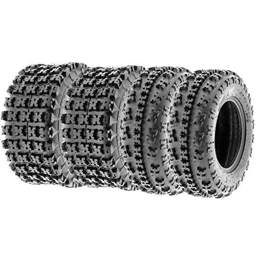 SunF 22x7-10 20x10-9 Knobby Sport ATV Tires 6 PR A027 Full set of 4