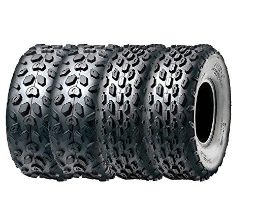SunF Full Set A014-15 Sport ATV UTV Go Cart Tires 14570-6 4 Ply Front Rear