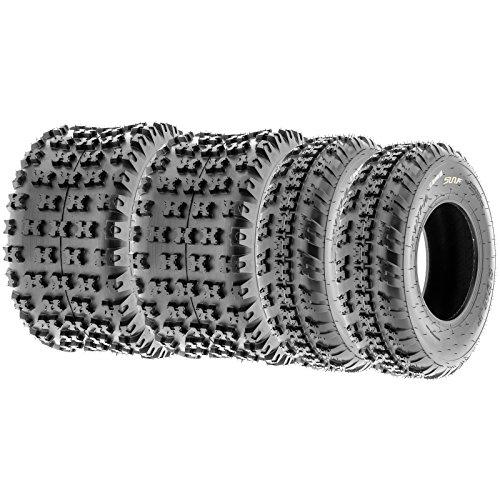 SunF Knobby Sport ATV Tires 21x7-10 18x10-8 46 PR A031 Complete set of 4
