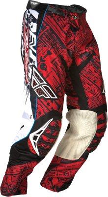 Fly Racing Evolution Youth Boys MotocrossOff-RoadDirt Bike Motorcycle Pants - RedBlack  Size 26