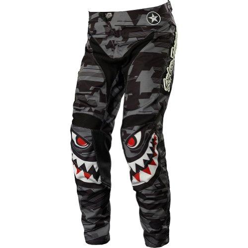 Troy Lee Designs GP P-51 Youth Boys MotocrossOff-RoadDirt Bike Motorcycle Pants - Gray  Size 26