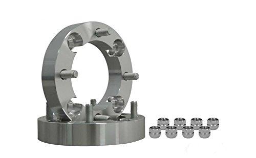 SuperATV 2 Aluminum Heavy Duty Wheel Spacers for Suzuki - 4110 Bolt Pattern - Pair